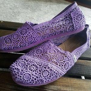 Lavender size 8 Toms